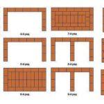 Схема порядовки мангала из кирпича