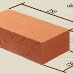 Стандартные размеры одинарного полнотелого кирпича