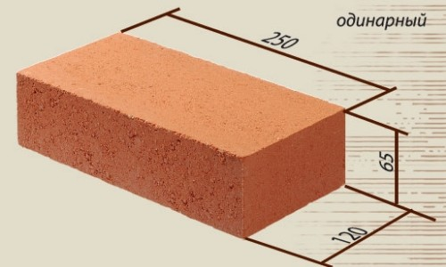 Размер полуторного кирпичаРазмер полуторного кирпича