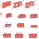 Расширенные формы и размеры кирпичей