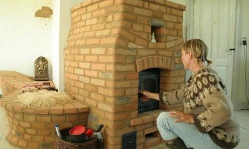 Кирпичная печь на даче