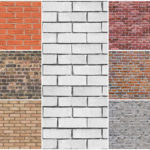 Бесшовная текстура кирпичной стены